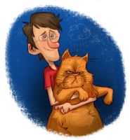 Me and My Cat by JeffVictor