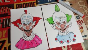 Killer Klowns from outer Space by craftgeekgirl