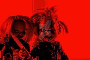 Chucky and Tiffany V by Arc-Elline