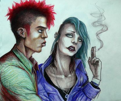 Pwetty punks by Lynafleder