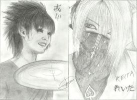 Reita and Kai's Drawing by Val3riao0o