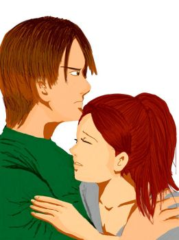 Joey Kennedy and Claire Redfield by carljohnson1231