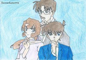 The Kudo family colored by Sonnenkatze346