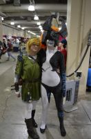Anime Boston 2012 - Link and Midna by Demonsil