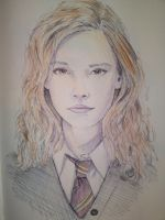 Hermione Granger - Emma Waston - Fan Art by VisualSymphonyStudio