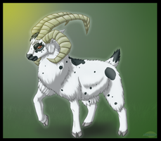 Art Trade with Soupa12: 4 Horned Ram by Lifefantasyx