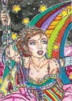 Her Playground in the Sky (ACEO) by Keyshe54