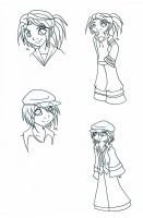 HM: Kana and Cam Sketches 1 by Miss-Mae