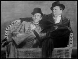 Laurel and Hardy by LunaPlina