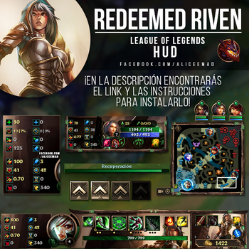 League of Legends HUD - Redeemed Riven by AliceeMad
