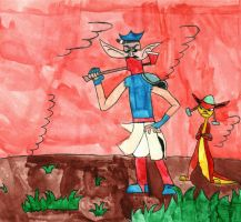 Axe Cop and Army Chihuahua: Jak 3 style by BARproductions