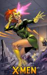 Jean Grey in the Danger room by spidermanfan2099
