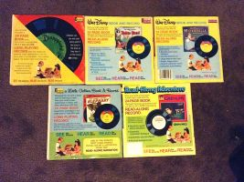 Disney Read-along Book-and-Record back covers by WileE2005