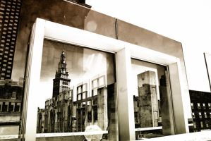 Retro Terminal Tower Reflections by BStadler