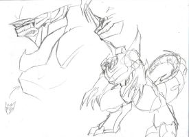 Trypticon Sketches by SpottedAlienMonster