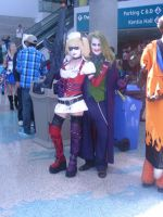 Joker and Harlequin AX 2011 by MidnightLiger0