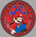Mario Stained Glass by PrincessPuccadomiNyo