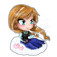 Frozen- Anna chibi by TropicalSnowflake