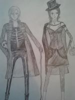 Gothic couple by leaazian