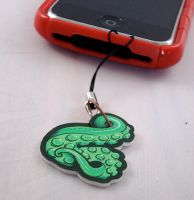 Tentacle acrylic charm by missmonster