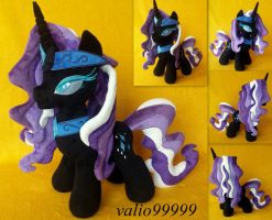 Nightmare Rarity plush by valio99999