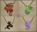 Fantasy necklaces set 2 by AlviaAlcedo