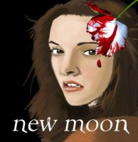 bella with new moon rose by mojo01