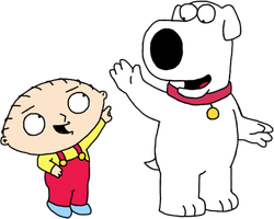 Stewie Griffin and Brian Griffin by Mighty355