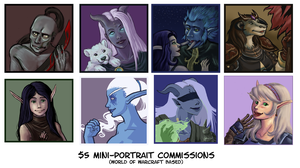 Warcraft Character Portraits by ippylovesyou