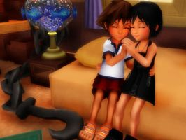 sora and xion forever by panda-len