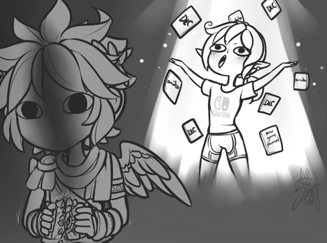 Kid Icarus on the Switch by Stella-TheFox