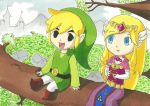 Link and Zelda by CelestialDarkMatter
