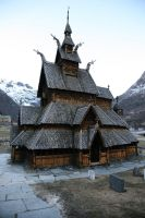 Wooden Church - 4 by mjranum-stock