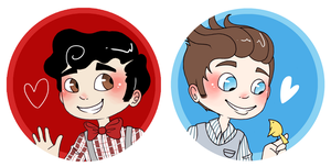 Klaine - Badges by Sunshunes