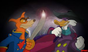 Don Karnage Vs Darkwing Duck by The-B-Meister