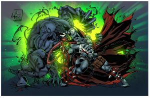 spawn vs venom by rcardoso530