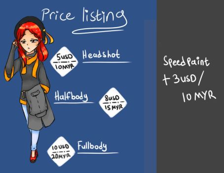 [Open] Commission Price listing by sayuriiera
