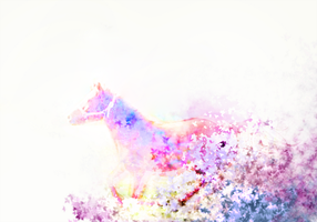Watercolor Rendered Horse by MuEnLi