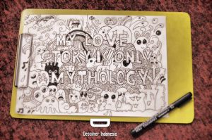 Doodle Art : My Love Story is Only Mythology by dicky10official