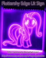 Fluttershy Glow Sign by AnimeAmy
