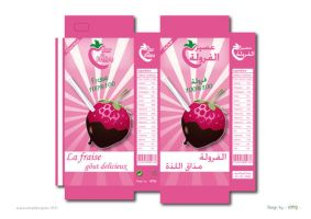 packaging jus de fraise by amadesigner