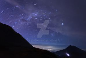 startrail at Kawah Ijen by ntoernanto