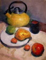 Still Life, Oil Color,  18x24, 2012, From Life by qukai415