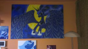 Princess Luna Painting by Pliskinus