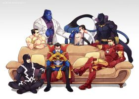 Marvel-Illuminati616 by Athew