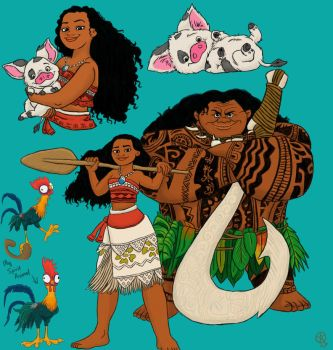 Moana: Fanart Collage by TheLastUnicorn1985
