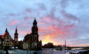 Dresden at dusk by Lykorias