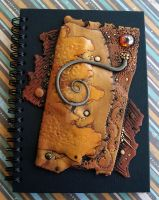 Journal Chocolate Caramel Fold by MandarinMoon