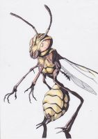 mutant wasp by e4animation