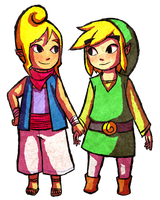 Art Trade - Link and Tetra by Zeepla